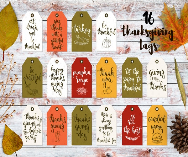 Thanksgiving Typography Tag