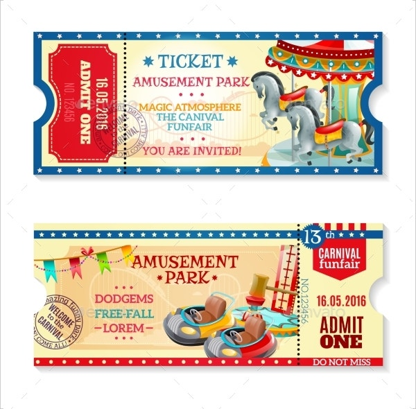 Park Carnival Ticket Invitation Template