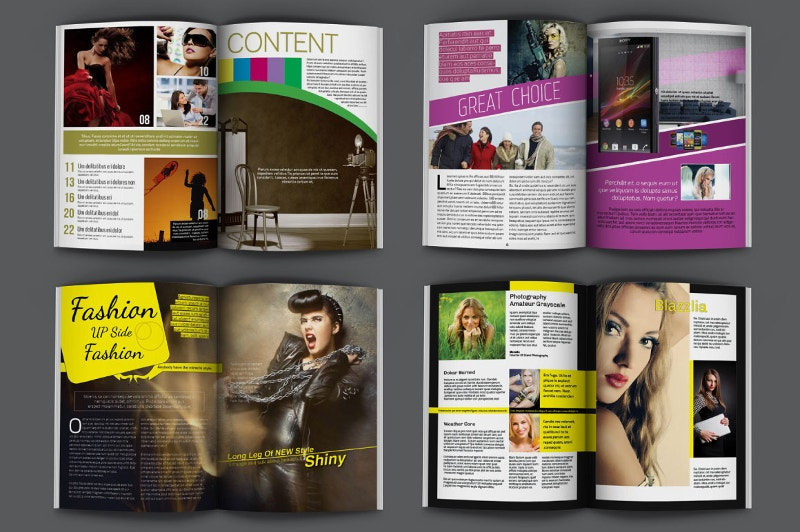 indesign magazine template modern