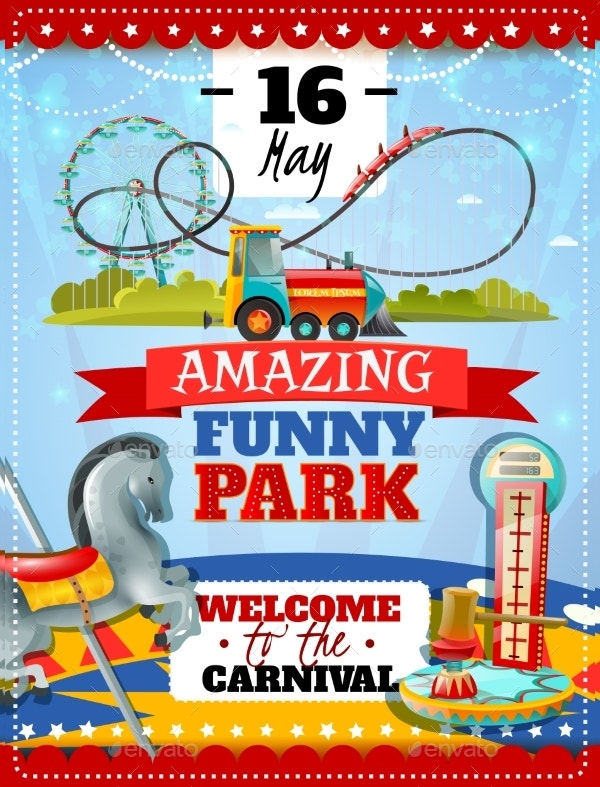 Amusement Park Poster Invitation
