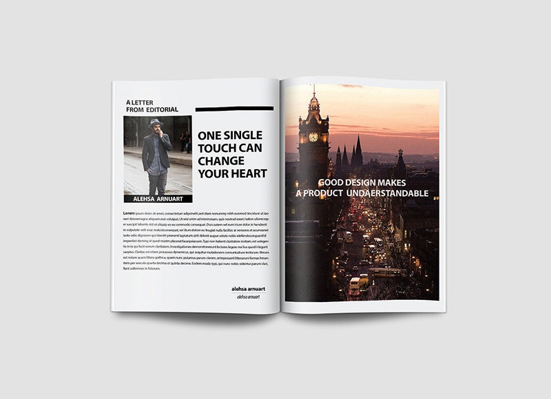 simple travel magazine template