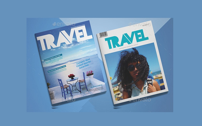 modern summer travel magazine