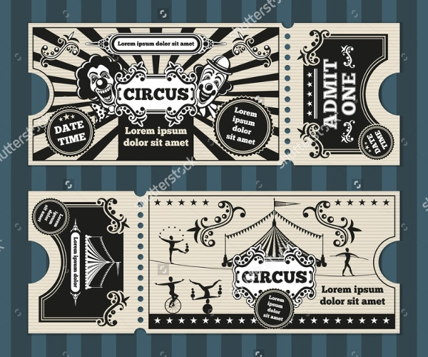 Carnival Birthday Invitation Ticket Style