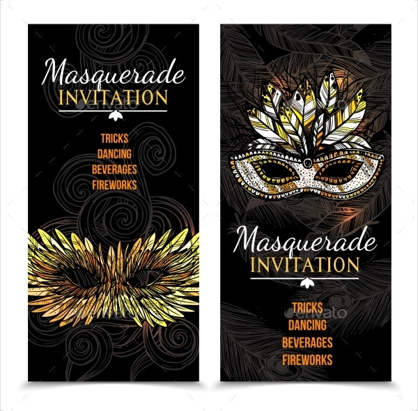 Printable Carnival Banner Invitation Design