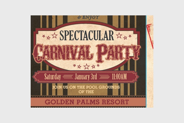 Resort Party Carnival Invitation Design