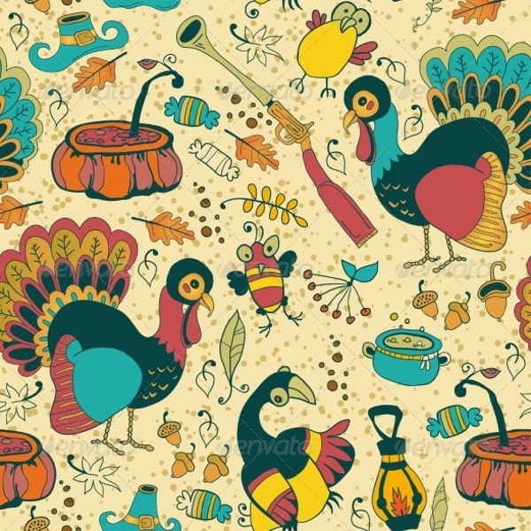 seamless texture with the thanksgiving day