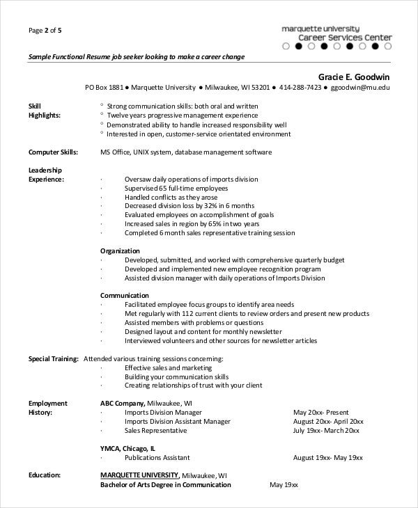 functional resumes for experienced professional1