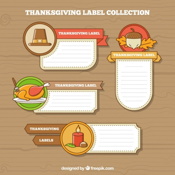 Decorative Thanksgiving Labels