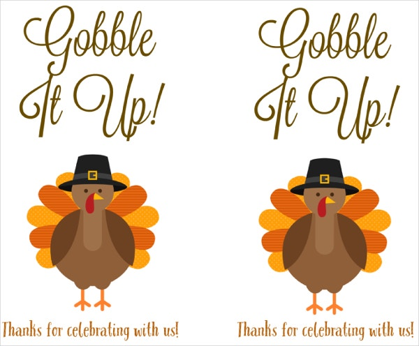 turkey thanksgiving printable labels