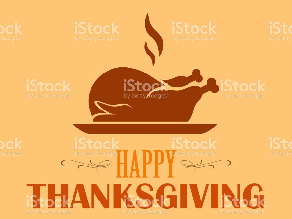 Happy Thanksgiving Logo Template