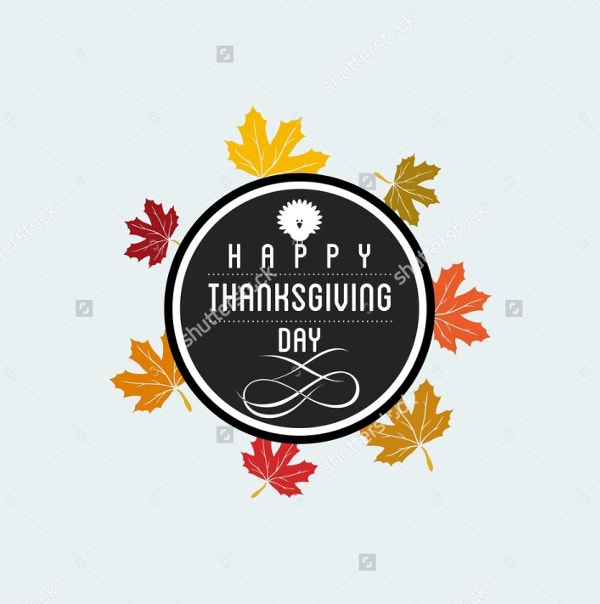 happy thanksgiving day logo template