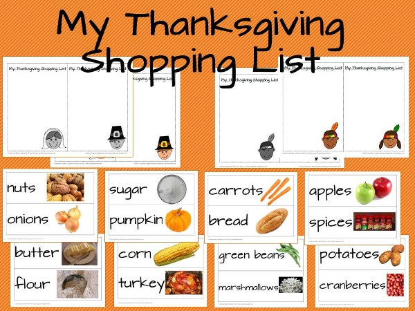 My Thanksgiving Shopping List