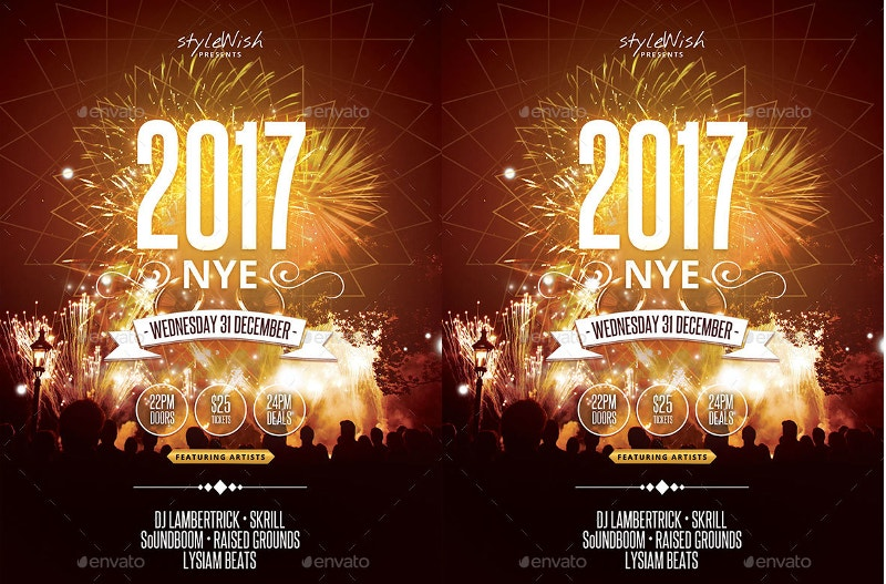 night club 2017 party poster