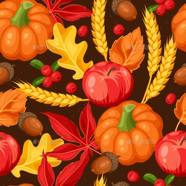 thanksgiving day or autumn seamless pattern