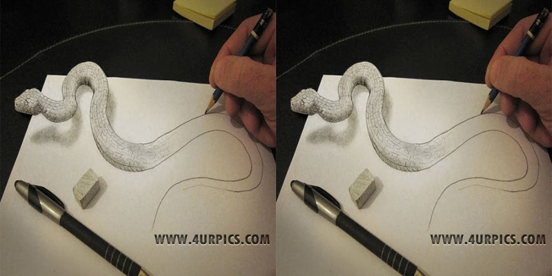 amazing-snake-art-with-pencil