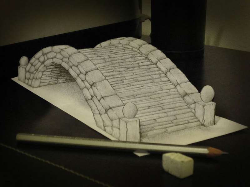 Pencil Art of Bridge