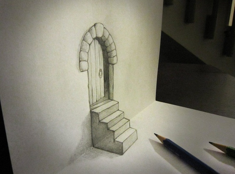 vintage-door-shown-in-pencil-art