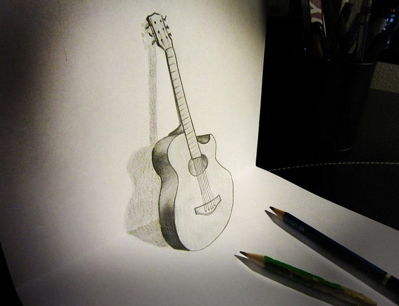 musical-instrument-in-pencil-art