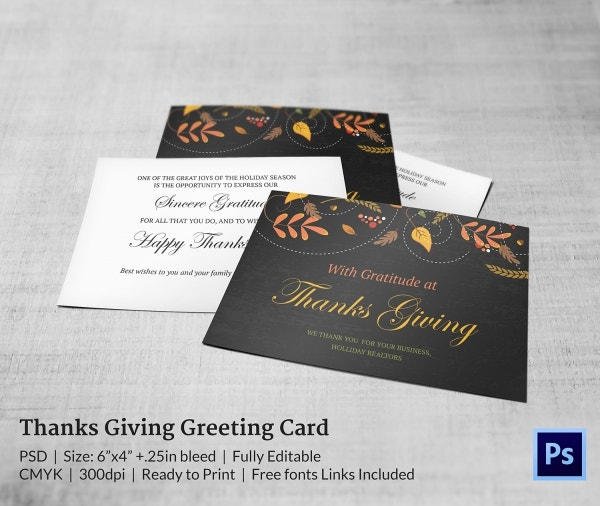 Attractive Thanksgiving Greeting Card