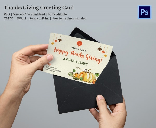 Thanksgiving Greeting Card Wishes Template