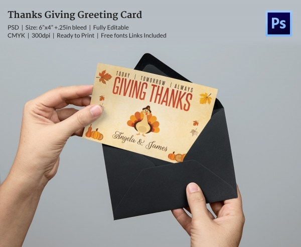 Premium Thanksgiving Greeting Card