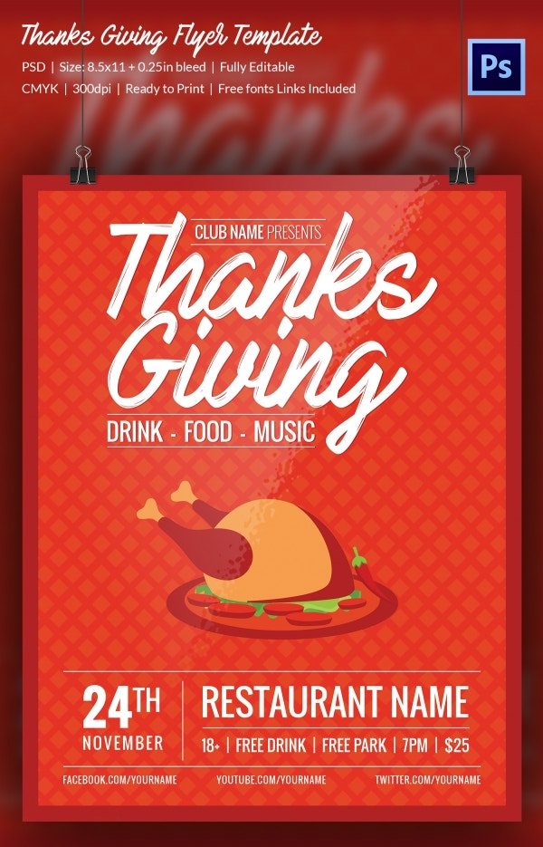 7 Thanks Giving Flyers Free Psd Format Download Free Premium