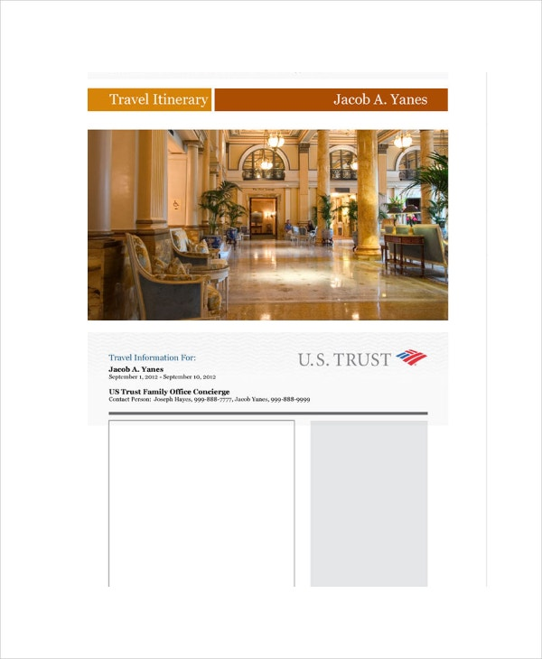 travel itinerary template1