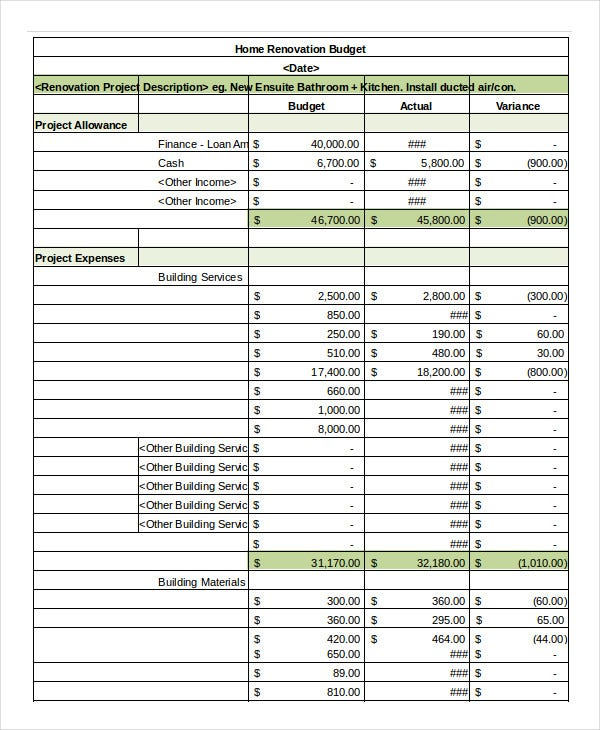 Simple Budget Spreadsheet Template - 11+ FreeWord, Excel, PDF ...