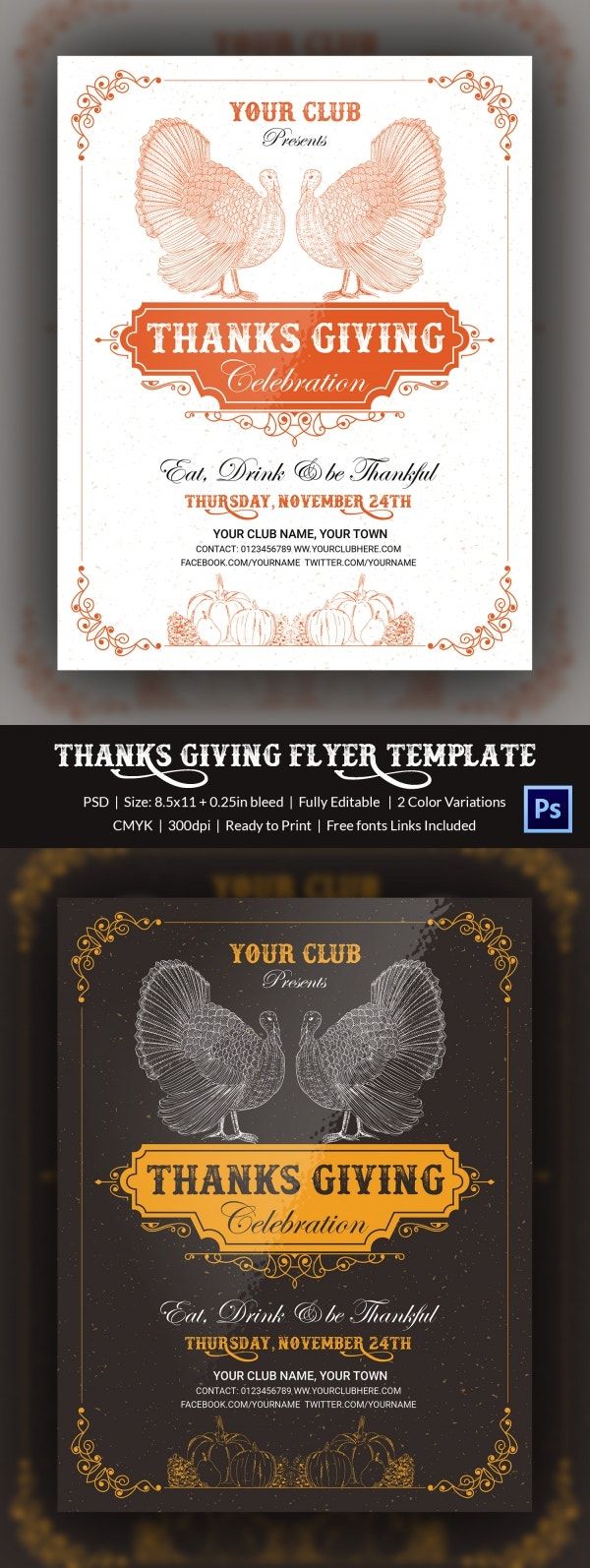 thanks giving flyer 4