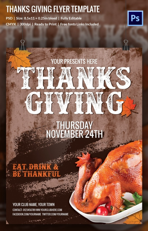thanks giving flyer 5