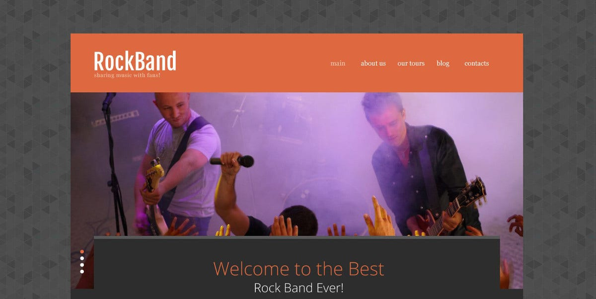 best rock band website template 75
