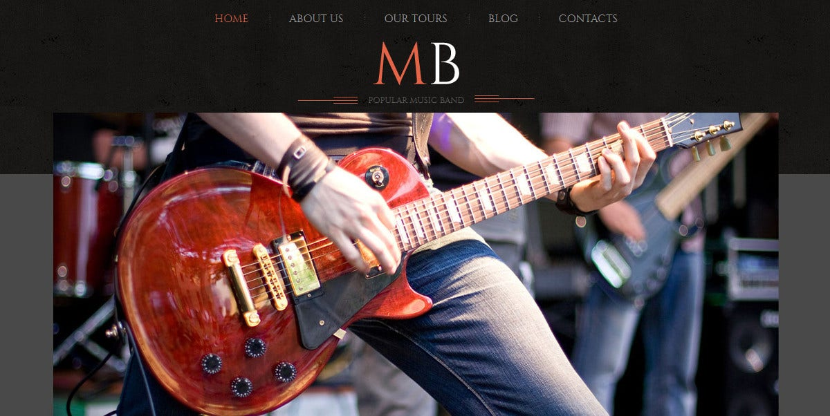 popular music band wordpress website theme 75