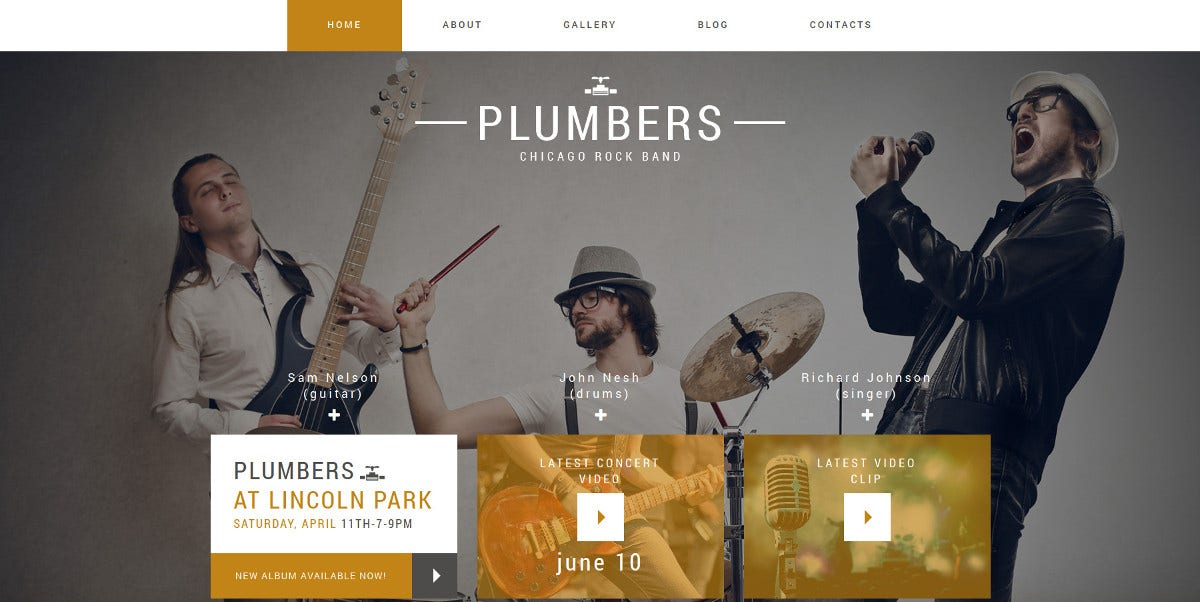 premium rock band project joomla website template 75