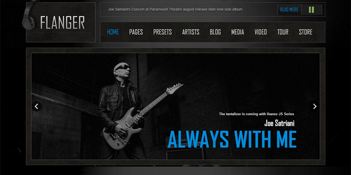 joomla music bands website template 48