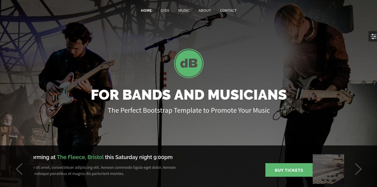 design band musician website theme 18