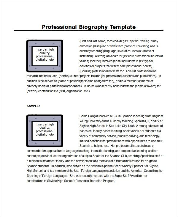 professional-biography-templateprofessional-biography-template