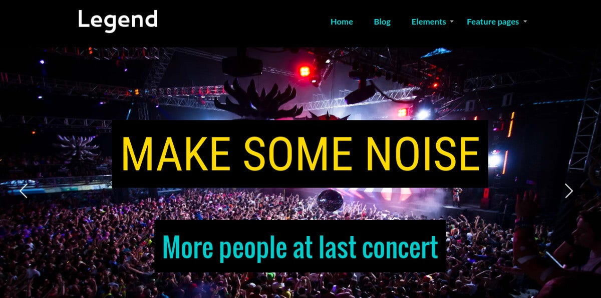 events entertainment band wordpress website theme 39