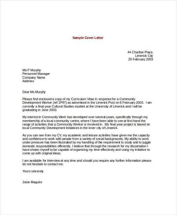 sample enterprise architect cover letter resume sample internship