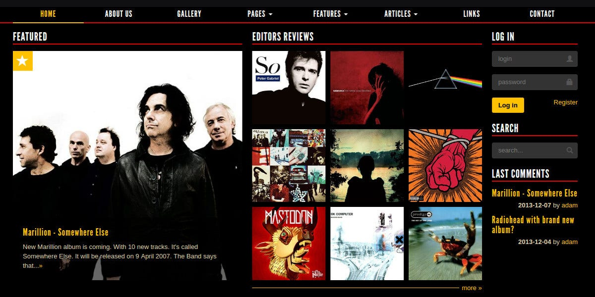 music band culture website theme 122