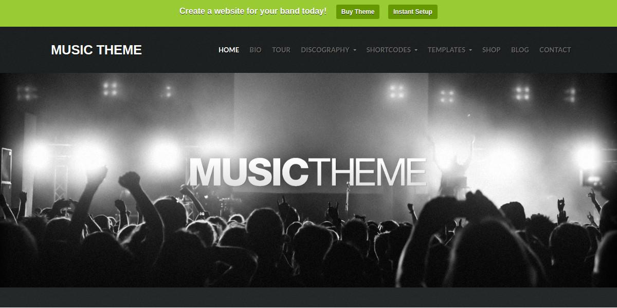 Music Band WordPress Website Theme $69