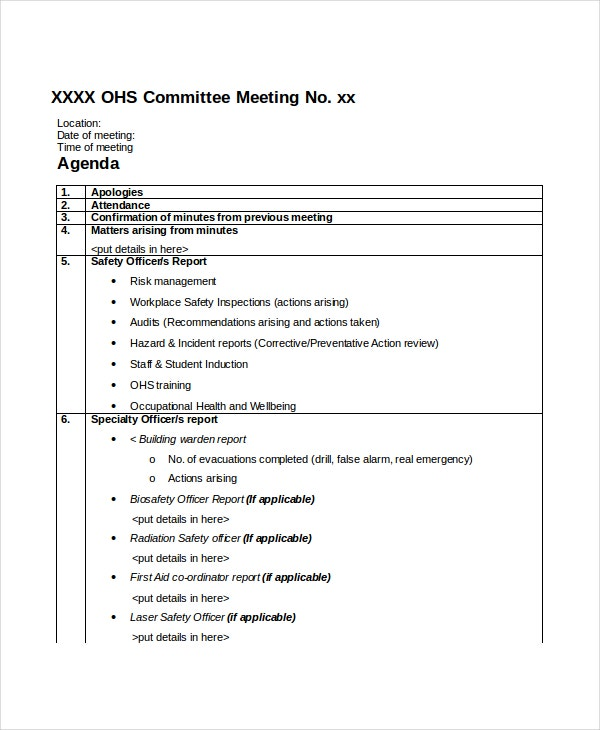 professional-committee-meeting-agenda-template