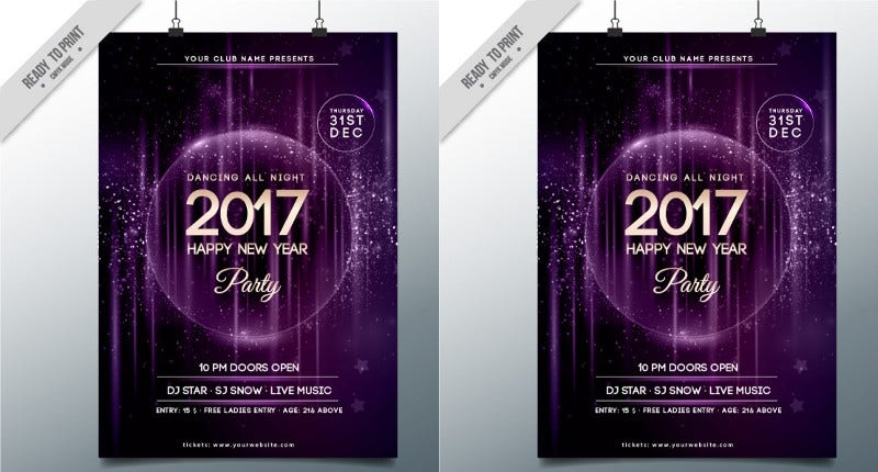 free-abstract-new-year-party-poster