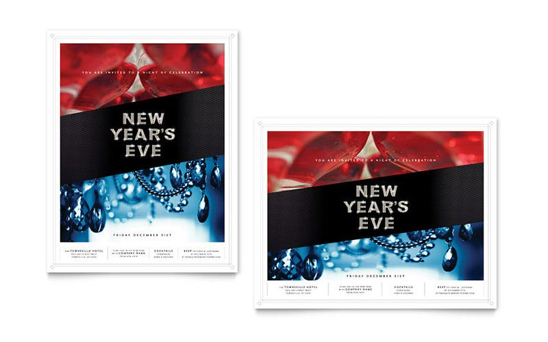 New Year Poster Template 2017 New Year Night Party Poster – Poster Word Template