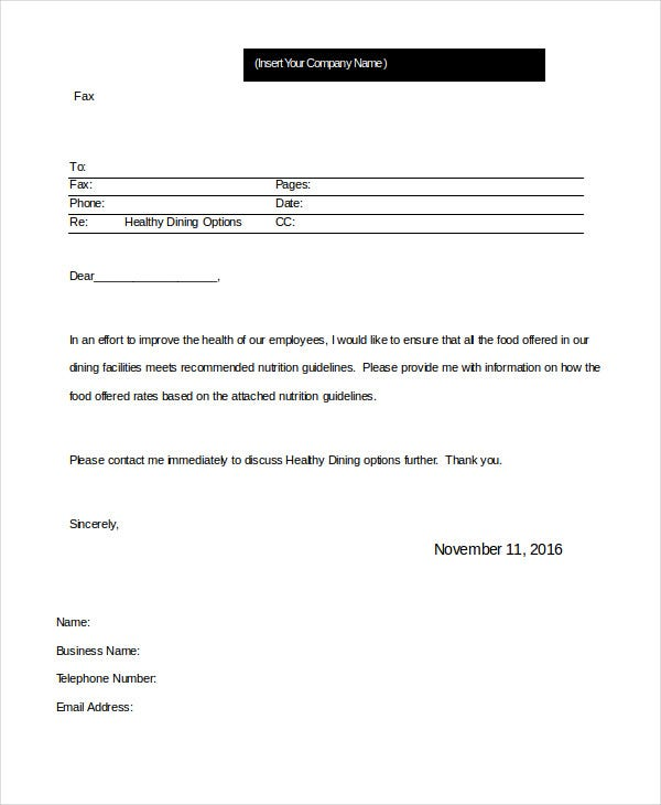 Professional Fax Template MS Word  Fax Template In Word
