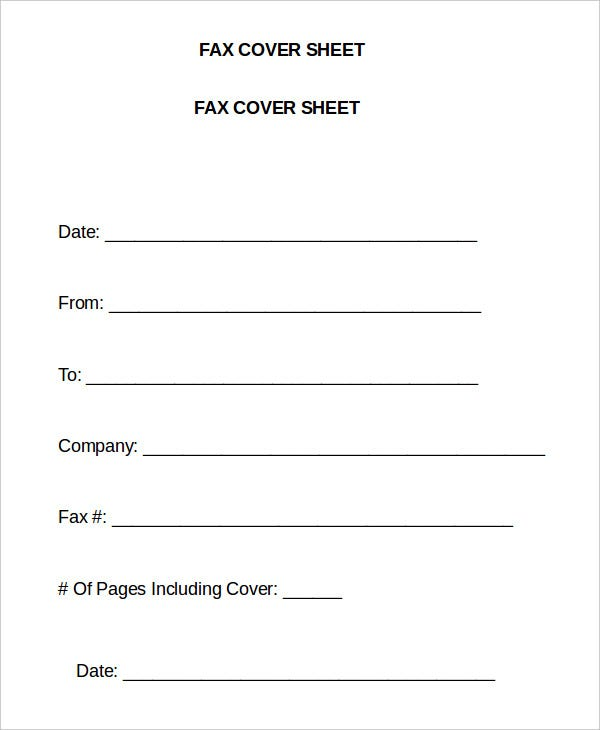 Word Fax Template 12 Free Word Documents Download – Fax Cover Sheet Template Word