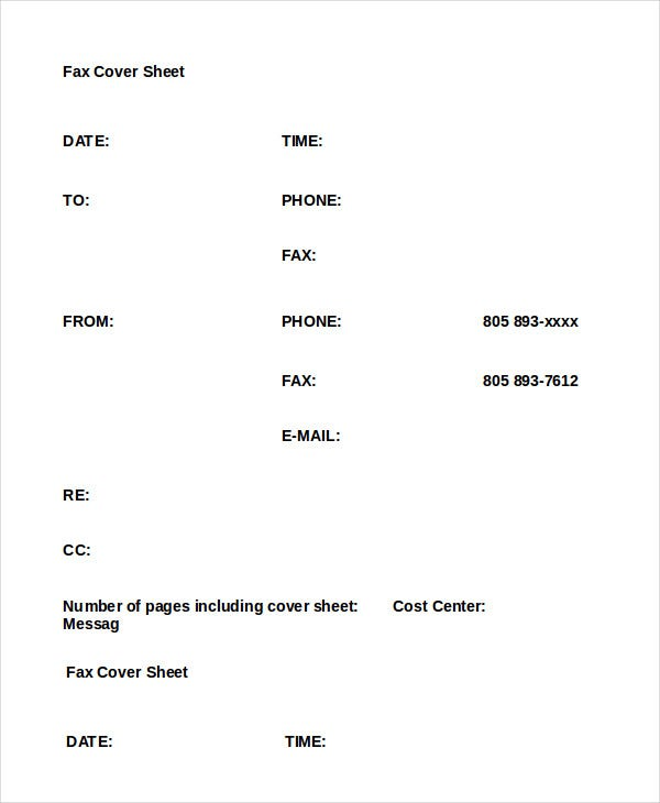 Word Fax Template - 12+ Free Word Documents Download | Free