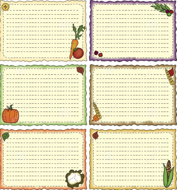 Harvest Theme Recipe Card