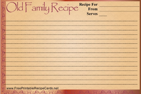 Recipe Card Templates  Free Psd Word Pdf Eps Format