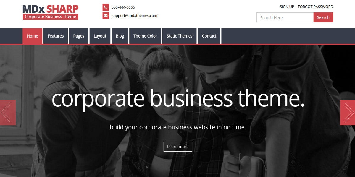 responsive online business modx theme