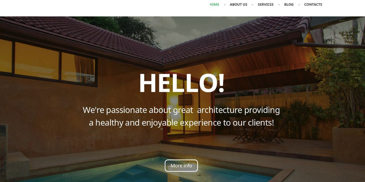 Architectural WordPress Theme $75